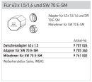 Somfy Adapterset für Achtkantwelle SW 70
