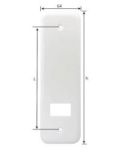 Selve Blende in weiß, Maxi Einlass-Gurtwickler